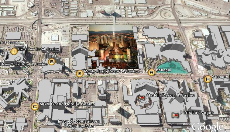 LV City Center Map